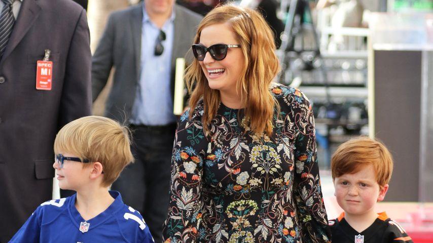 Amy Poehler mit ihren beiden Kindern
