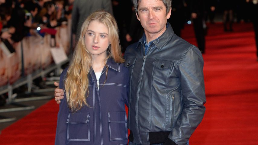Anais und Noel Gallagher im Oktober 2015 in England