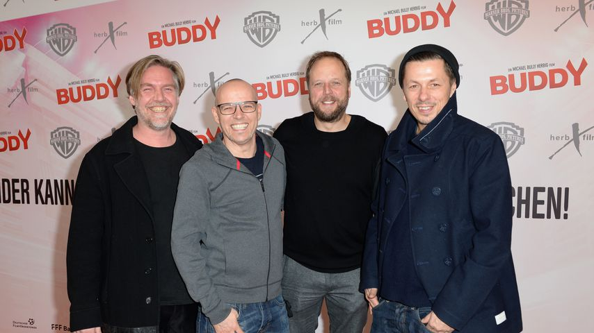 """And.Ypsilon, Thomas D, Smudo und Michi Beck bei der """"Buddy""""-Premiere 2013"""