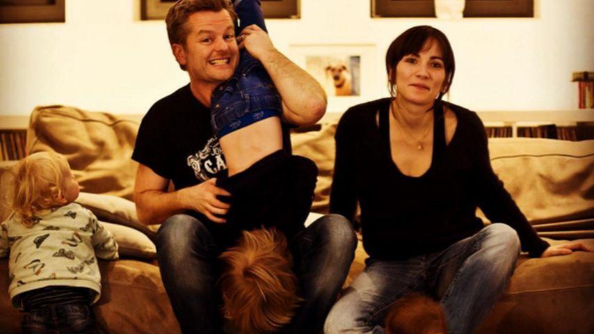 Chaos-Foto! So süß feiert AWZ-Star André Dietz seine Familie