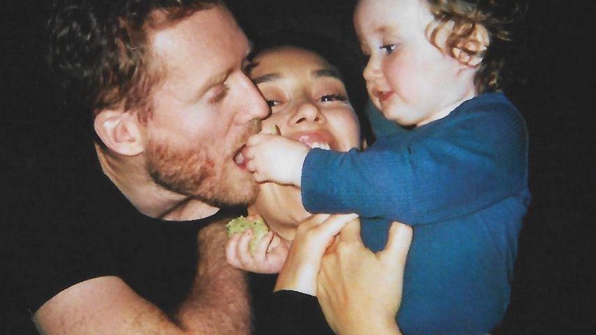 André Schürrle mit seiner Frau Anna und Tochter Kaia