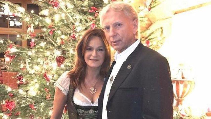 Andrea Berg mit ihrem Mann Ulrich Ferber an Weihnachten 2016