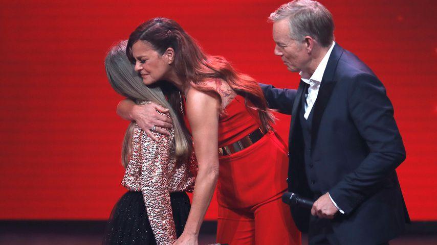 Andrea Berg mit Paula und Johannes B. Kerner