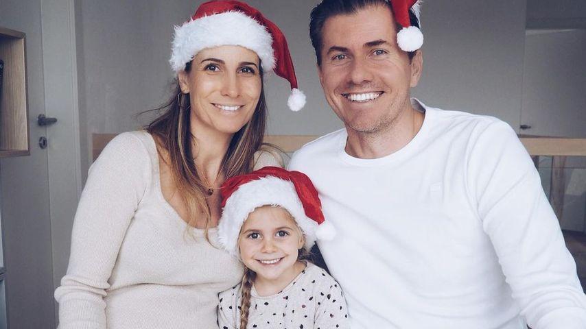 Andrea Schiffner mit ihrem Mann Christian und Tochter Emilia