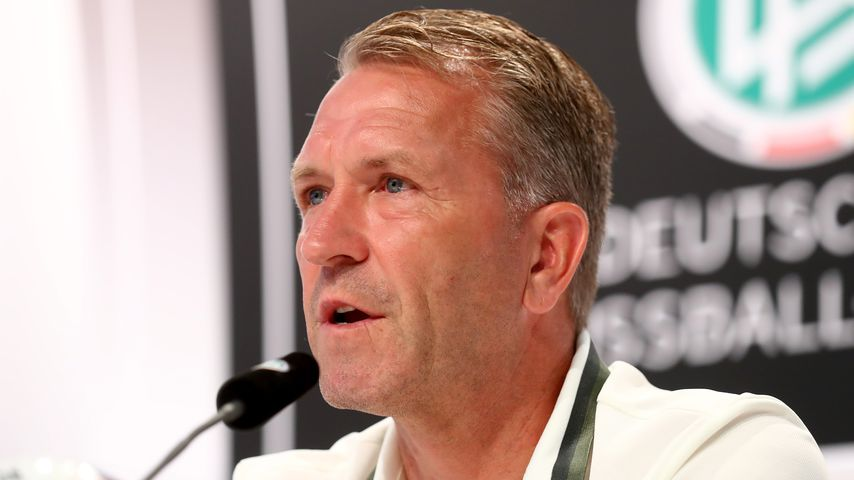 Andreas Köpke während einer DFB-Pressekonferenz