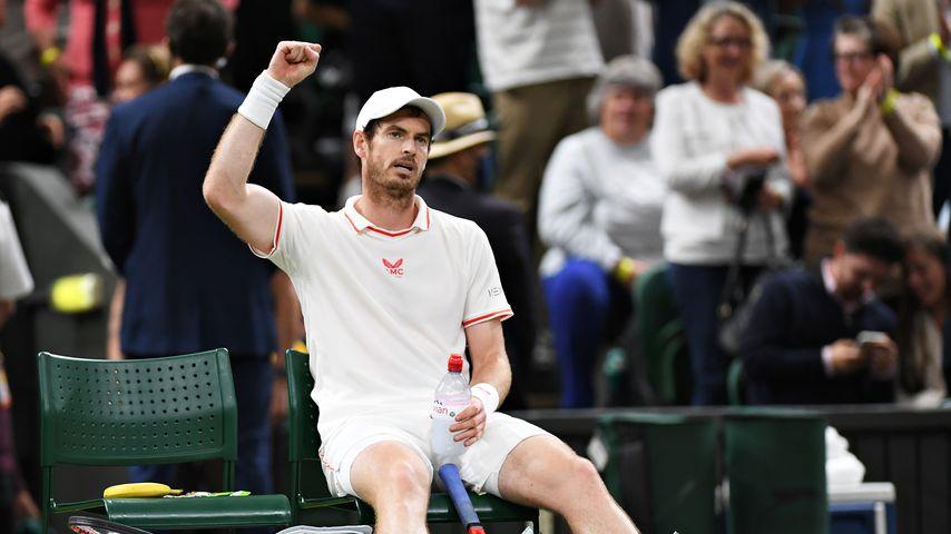 Andy Murray 2021 bei seinem Wimbledon Match gegen Oscar Otte