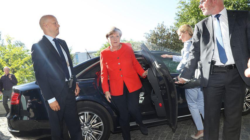 Angela Merkel bei der Ankunft zur Bundespressekonferenz im August 2017 in Berlin