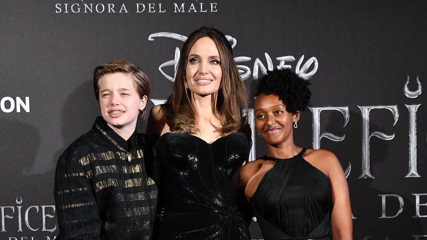 Angelina Jolie mit ihren Töchtern Shiloh (links) und Zahara (rechts)