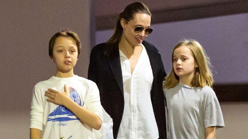 Seltener Anblick: Angelina Jolie mit ihren Twins unterwegs