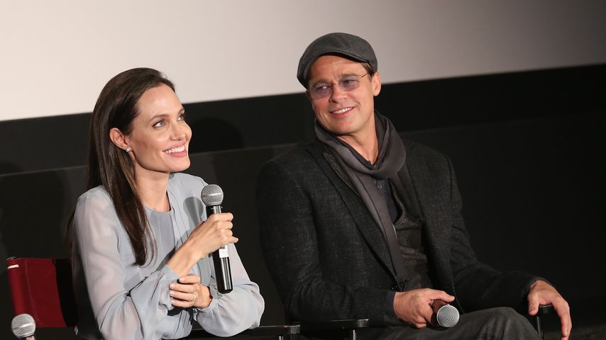 """Angelina Jolie und Brad Pitt bei einem """"By The Sea""""-Screening , 2015"""