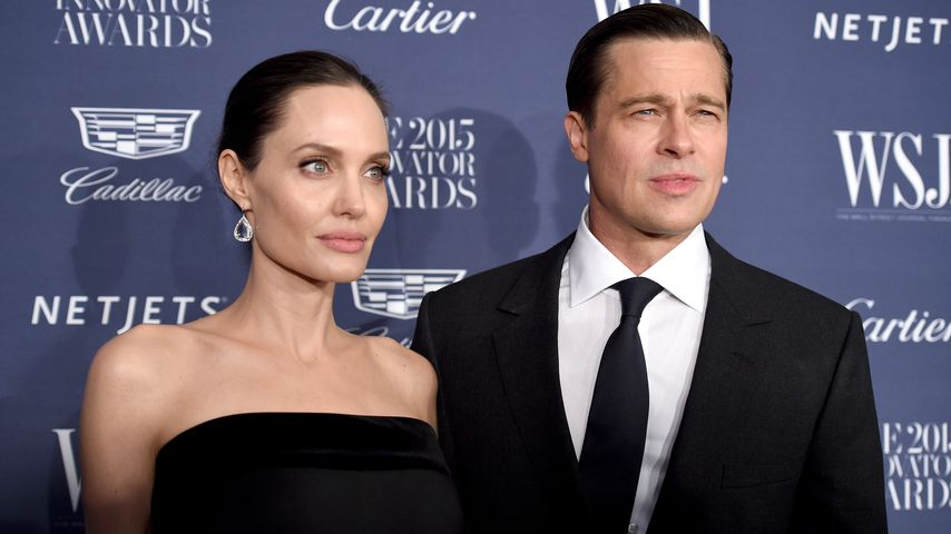 Angelina Jolie und Brad Pitt in New York City im November 2015