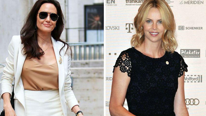 Angelina Jolie & Charlize Theron: Dank Brad plötzlich BFFs
