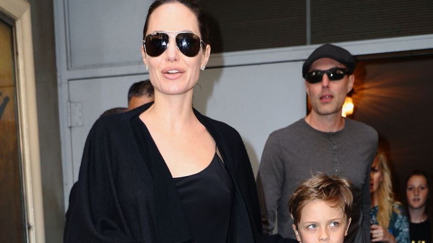Angelina Jolie und Know Leon Jolie-Pitt in New York