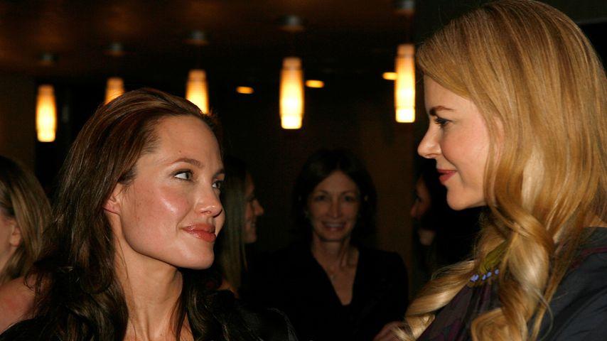 Angelina Jolie und Nicole Kidman im Januar 2007