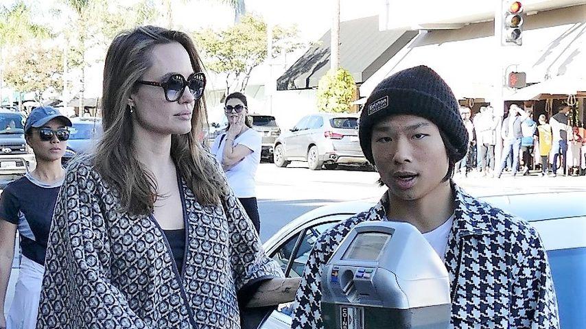 Angelina Jolie und Pax in L. A.
