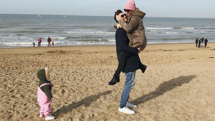 Ania Niedieck mit ihrem Mann und Kind