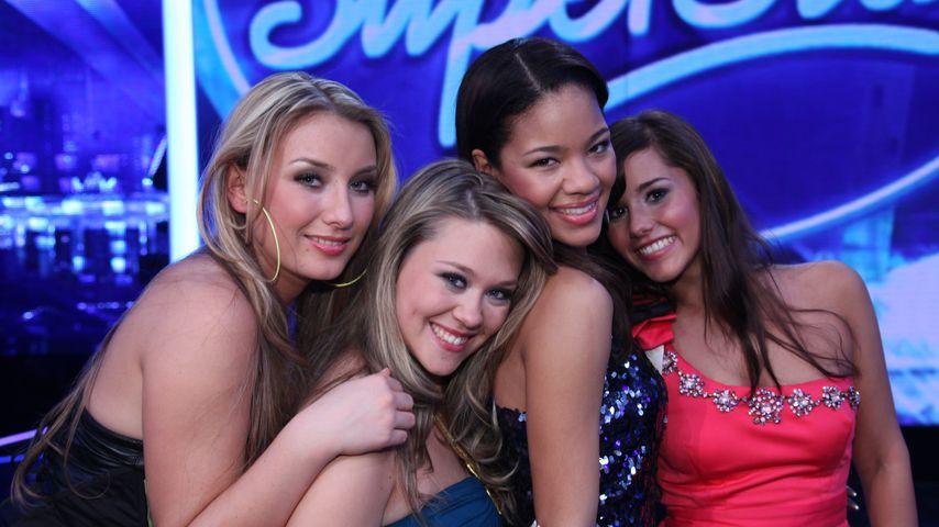 Anna-Carina Woitschack, Nina Richel, Zazou Mall und Sarah Lombardi bei DSDS 2011