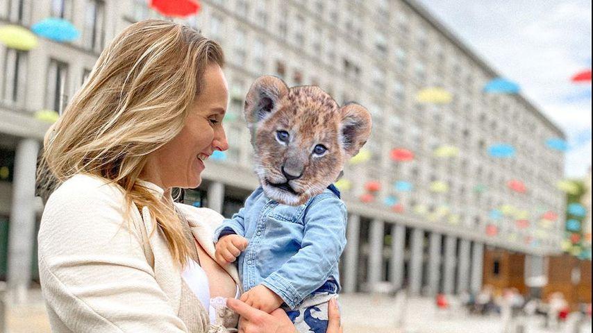 Anna Hofbauer mit ihrem Sohn, November 2020