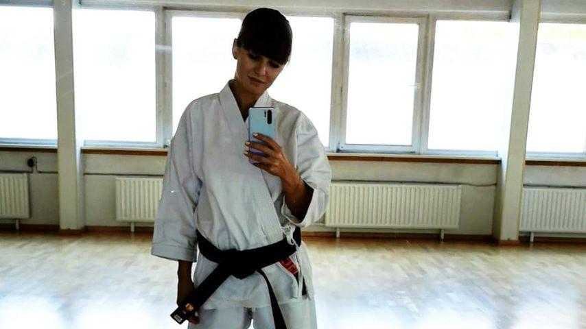 Anna Lewandowska im Karate-Outfit 2019
