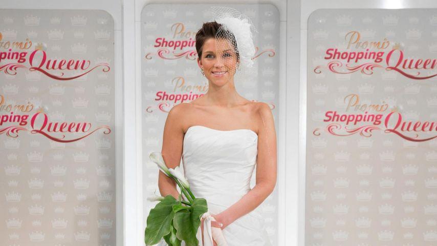 Im Brautkleid: Anna-Maria Zimmermann ganz in Weiß