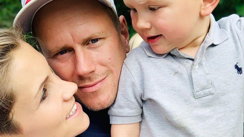 Anna-Maria Zimmermann mit ihrem Mann Christian und ihrem Sohn Matti