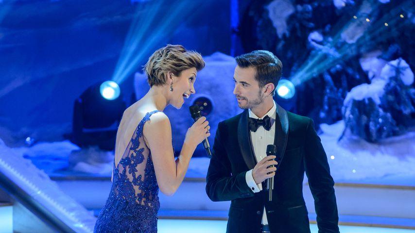 Anna-Maria Zimmermann und Florian Silbereisen auf der Bühne