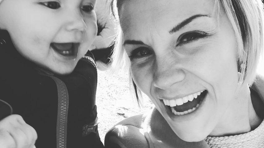 Anna-Maria Zimmermann mit ihrem Sohn Matti, September 2018