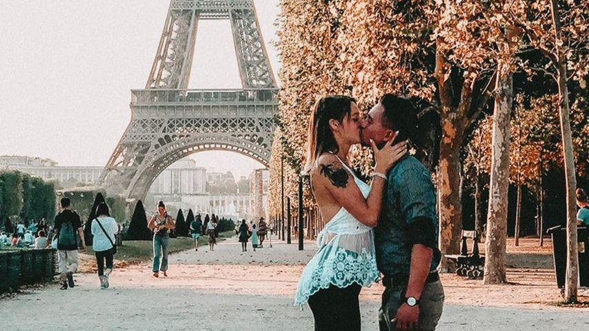 Anne Wünsche und ihr Freund Karim in Paris