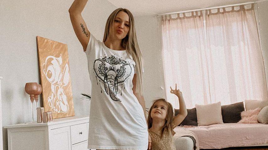 Anne Wünsche und ihre Tochter Juna, Mai 2020
