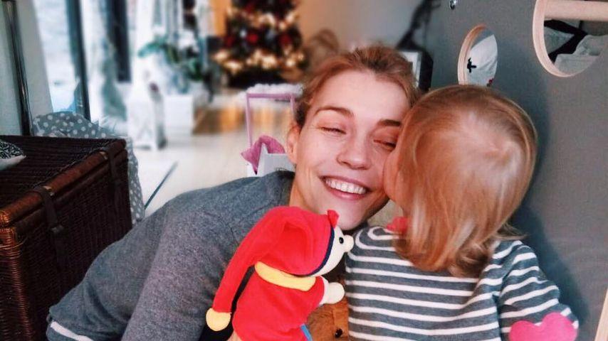 Annett Möller und Töchterchen Livia