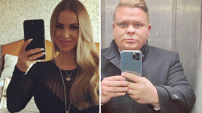 """Collage: Annina Ucatis und Sascha, Ex-""""Big Brother""""-Pärchen"""
