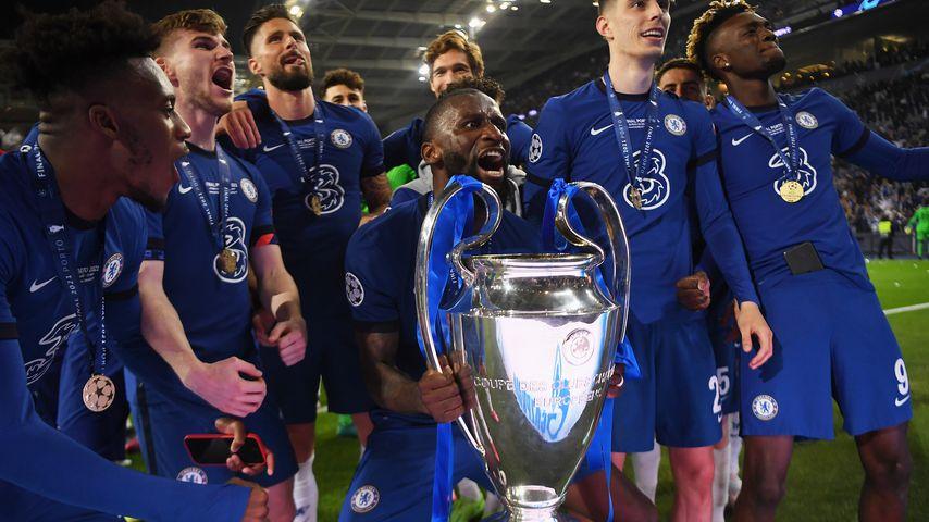 Antonio Rüdiger nach dem Champions-League-Sieg 2021