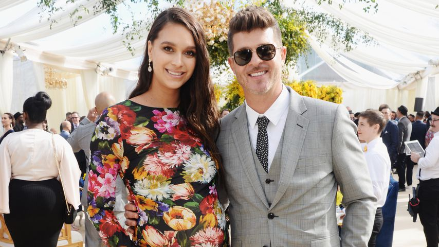 April Love Geary und Robin Thicke im Februar 2019