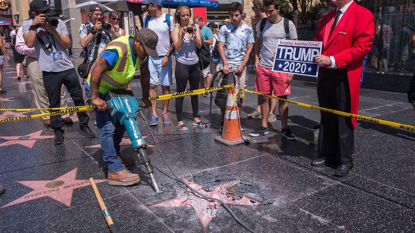 Donald Trumps zerstörter Stern auf dem Walk of Fame