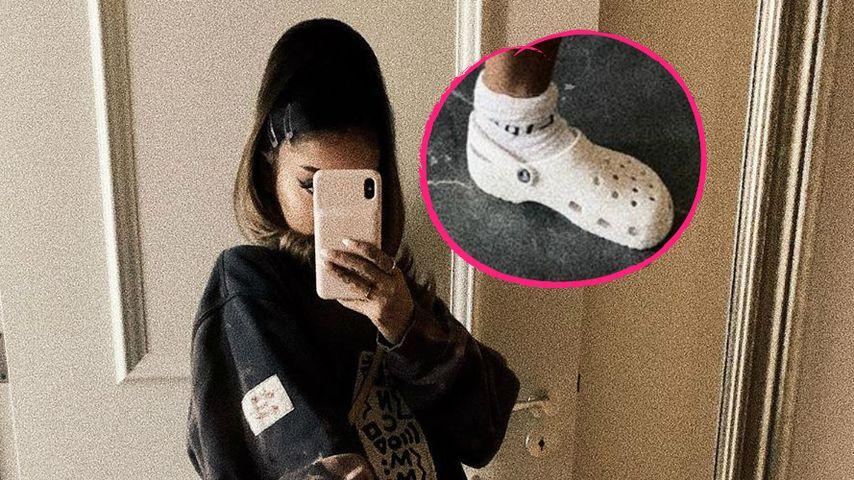 Neuer Trend? Ariana Grande trägt Tennissocken mit Crocs!