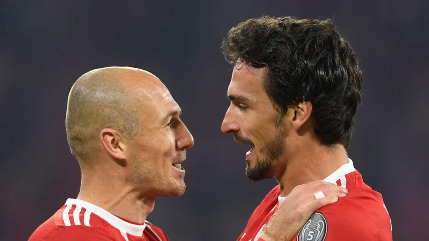 Die Bayern-Stars Arjen Robben und Mats Hummels