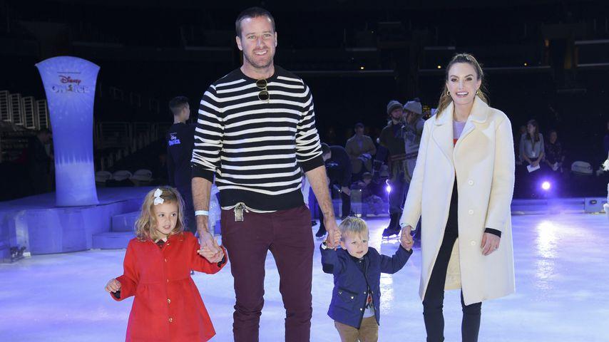 Armie Hammer und Elizabeth Chambers mit ihren Kindern Harper und Ford