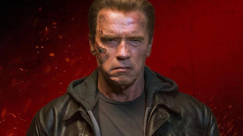 Arnold Schwarzenegger auf dem Terminator Genisys Filmposter