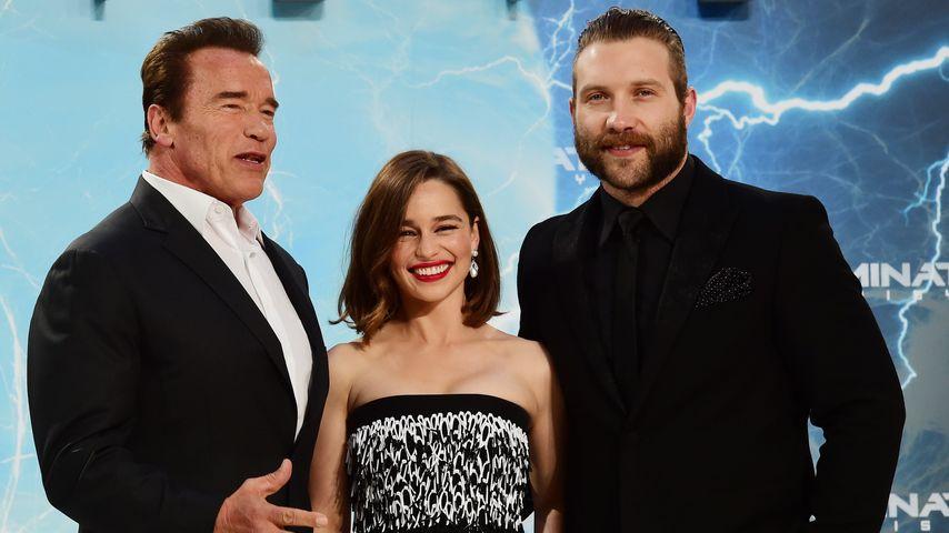 Emilia Clarke, Arnold Schwarzenegger und Jai Courtney