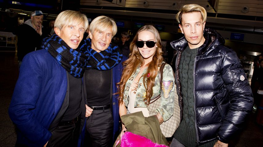 Arnold und Oskar Wess, Gina-Lisa Lohfink und Florian Wess