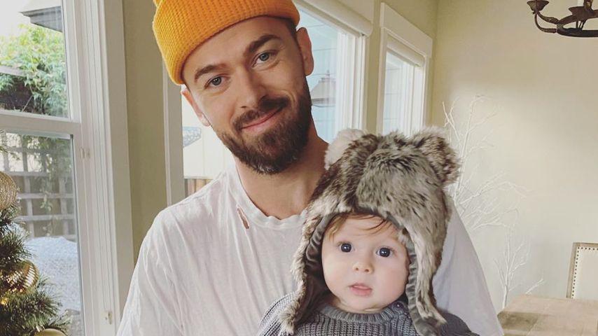 Artem Chigvintsev mit seinem Sohn Matteo