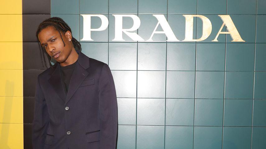ASAP Rocky bei der Prada Fashion-Show in Mailand, September 2019