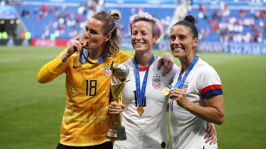 Ashlyn Harris, Megan Rapinoe und Ali Krieger nach dem WM-Sieg 2019