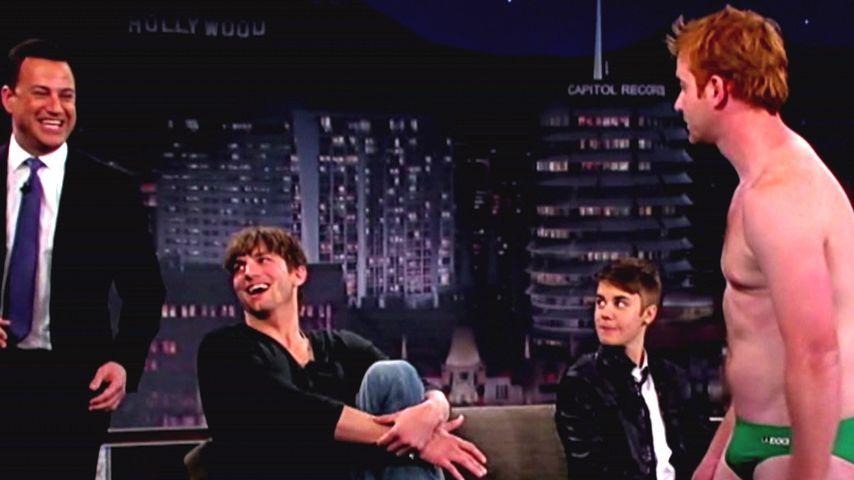"""Ashton & Justin: Von nacktem Mann """"belästigt"""""""