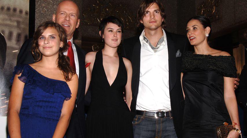 Ashton Kutcher, Rumer Willis, Bruce Willis, Demi Moore und Tallulah Willis
