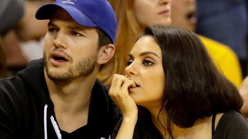 Ashton Kutcher und Mila Kunis bei den NBA Finals 2016