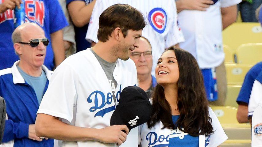 Fast erstickt: Ashton Kutchers Tochter knuddelt Brüderchen!
