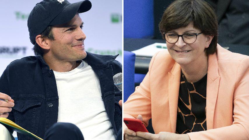 Ashton Kutcher schreibt im Netz mit SPD-Chefin