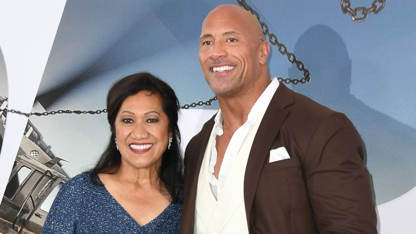 "Ata Johnson und Dwayne ""The Rock"" Johnson in Hollywood, 2019"