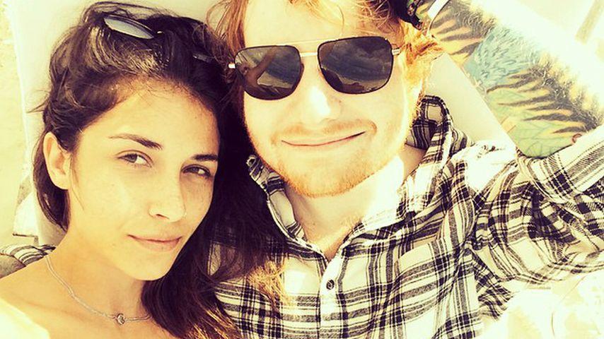 Athina Andrelos und Ed Sheeran, 2015